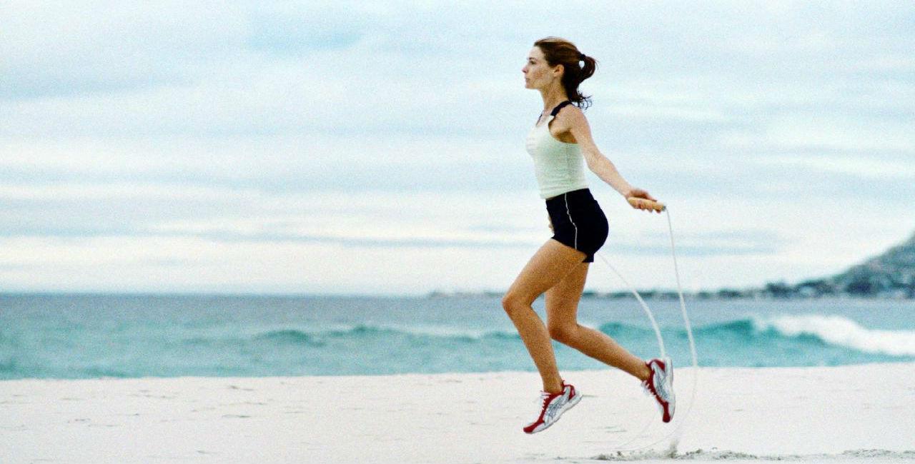 trening på stranda